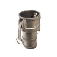 "Aluminium Camlock / Kamlok type C - DN 13 met 1/2"" = 13 mm slangtule"