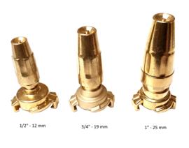 "GEKA / GK messing nozzle / straalpijp met klauwkoppeling 3/4"" - 19 mm"