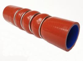 Siliconen Intercooler | Turbocharger slang rood + stalen verstevigingsringen | ID 34 mm x L = 160 mm