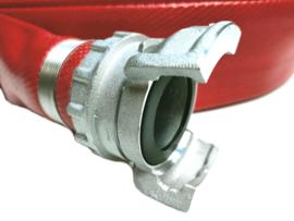 """Brandslang standaard synthetisch EPDM rood 45 mm ( 1 2/3"""") x 20 meter + DSP koppelingen"""