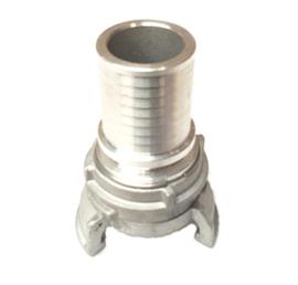 """Guillemin koppeling aluminium met slangtule + grendel ND / DN 20 - 1"""" - slang ID 25 mm"""