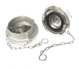 "Storz blindkap aluminium 4"" - DN 110 NOK / NA 133 inclusief ketting (Storz A)"