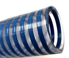 Professionele PVC zuig-pers slang transparant + PVC spiraal