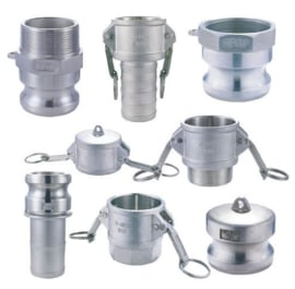 Camlock koppelingen RVS / Messing / Aluminium / PP