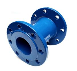 Verloopflens gietijzer concentrisch DIN PN 10 | PN 16 + blauwe epoxy coating