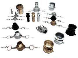 Camlock koppelingen RVS | Messing | Aluminium | PP