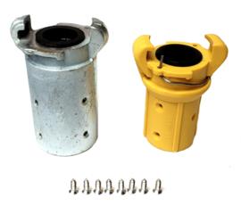 Zandstraal klauwkoppelingen | Gietijzer + Nylon uitvoering