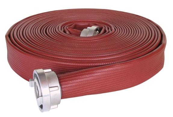 """Brandslang Profi NBR rubber Rood 3"""" (75 mm) x 20 meter + Storz NOK / NA 89 (Storz B) (o.a. oliebestendig)"""