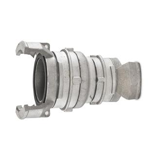 Guillemin verloopstuk / reducer /  reductiestuk aluminium DN 50 - DN 65