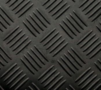Checkermat / traanplaat vloerrubber 3 mm dik x 140 cm breed Rol = 10 meter | € 11,50 per m2