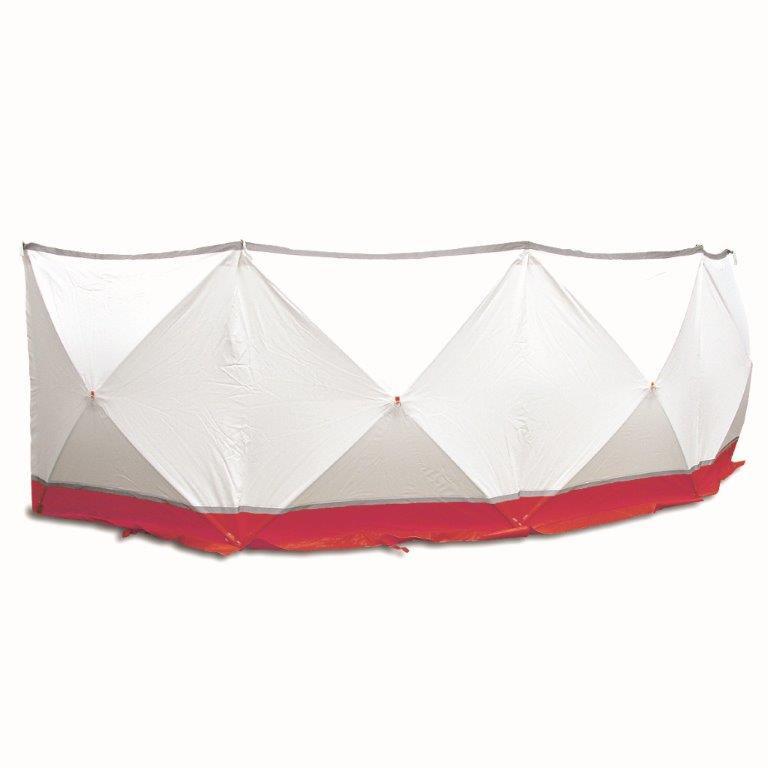 Afzetscherm 720 x 180 cm professionele uitvoering rood / wit