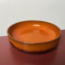Vintage oranje pinda schaal