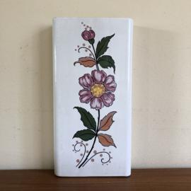 Vintage radiator bakje paarse bloem