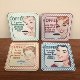 Retro onderzetters Coffee