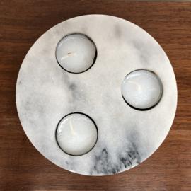 Marmeren waxinelichthouder
