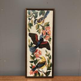 Geborduurd schilderij vogels