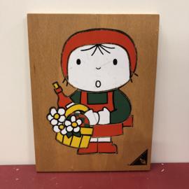 Vintage Dick Bruna puzzel roodkapje