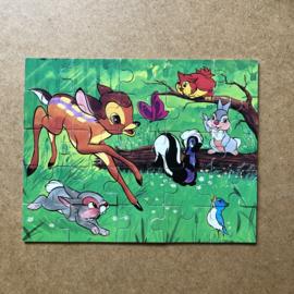 Vintage houten bambi puzzel