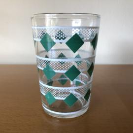 Vintage glas groen wit