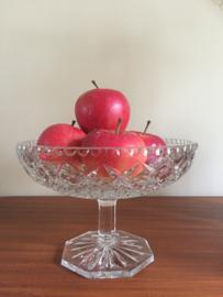 Vintage kristallen Fruitschaal