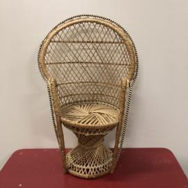 Mini rieten pauw stoel