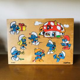 Vintage puzzel smurfen