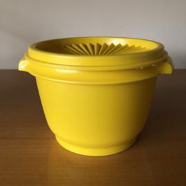 Vintage tupperware bakje geel
