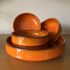 Vintage oranje snackset