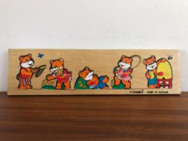 Vintage simplex puzzel met beertjes