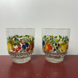 Setje vintage fruitglaasjes