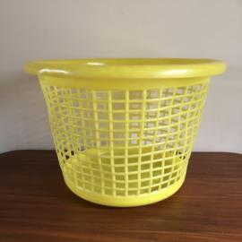 Grote vintage gele wasmand Sunil