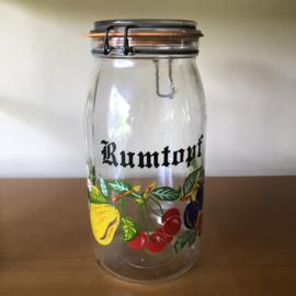 Vintage glazen rumtopf