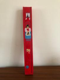 Vintage breinaalden doosje rood
