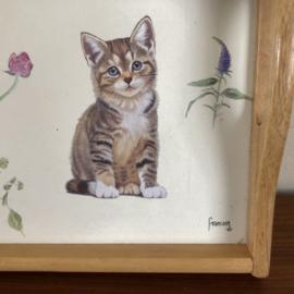 Dienblad Franciens  katten