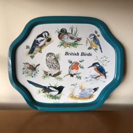Vintage dienblad British Birds
