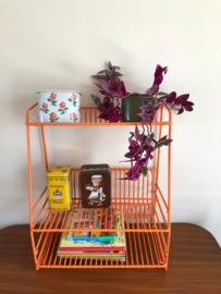 Vintage oranje bordenrek