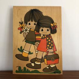 Vintage houten plaat Jaklien