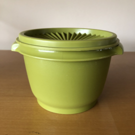 Vintage tupperware bakje groen