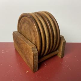 Vintage houten onderzetters