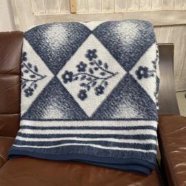 Vintage deken blauw
