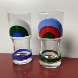 2 vintage longdrink glazen