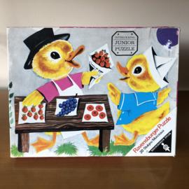 """Vintage houten puzzel """"het snoepende eendje"""""""