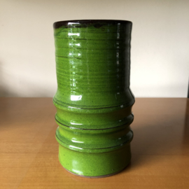 Vintage groene vaas