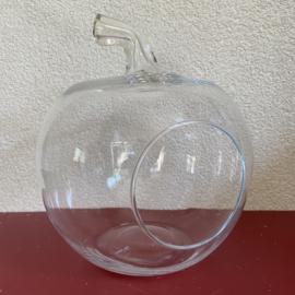 Glazen appel bloempot