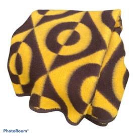 Vintage deken geel/bruin