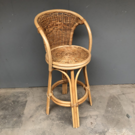 Rotan hoge stoelen