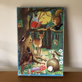 vintage houten puzzel bos