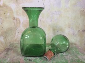 Vintage groene karaf