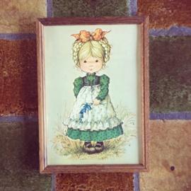 vintage schilderij meisje
