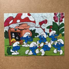 Vintage smurfen puzzel